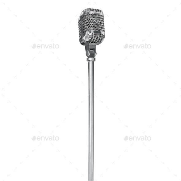 Vintage Studio Microphone. 3D Render