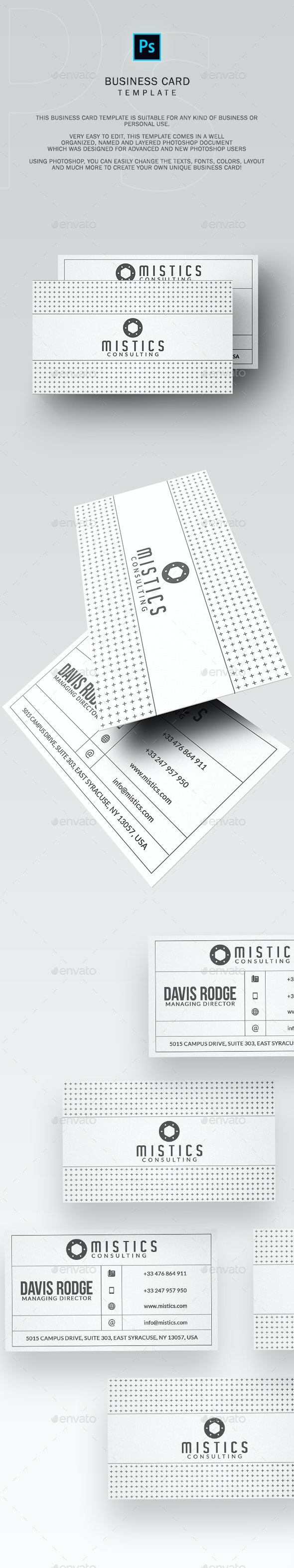 Minimal White Business Card - Business Cards Print Templates