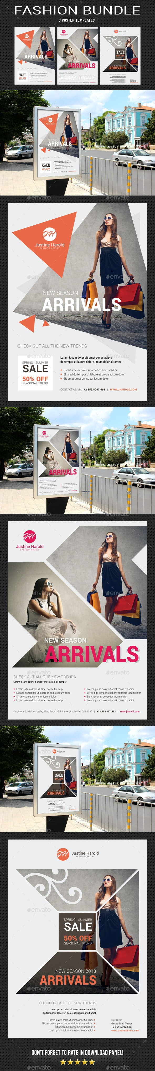 Fashion Poster Bundle - Signage Print Templates