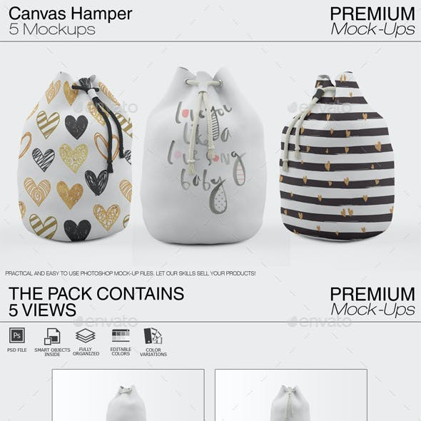 Canvas Hamper Mockups