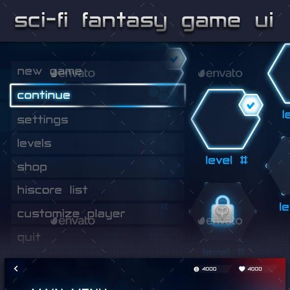 Futuristic Fantasy Game UI