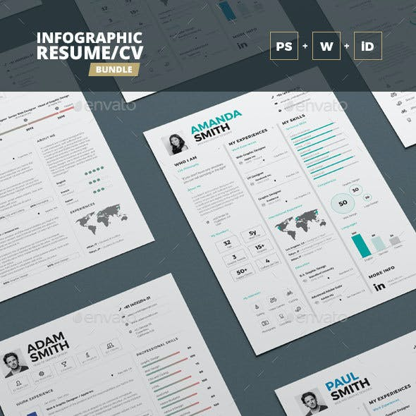 Infographic Resume/Cv Bundle Volume 2