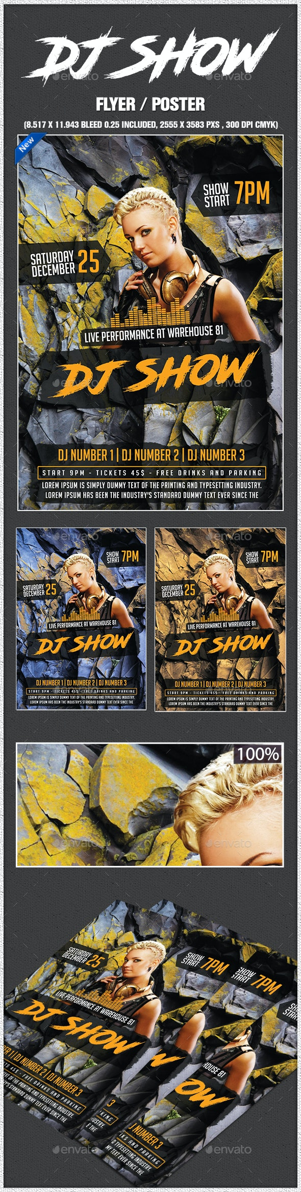 Dj Show Poster - Clubs & Parties Events