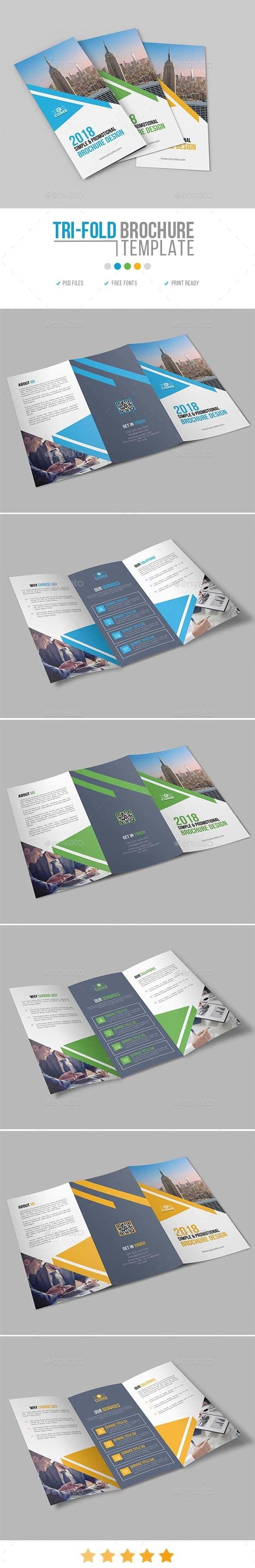 Tri-Fold Brochure Template 21 - Corporate Brochures
