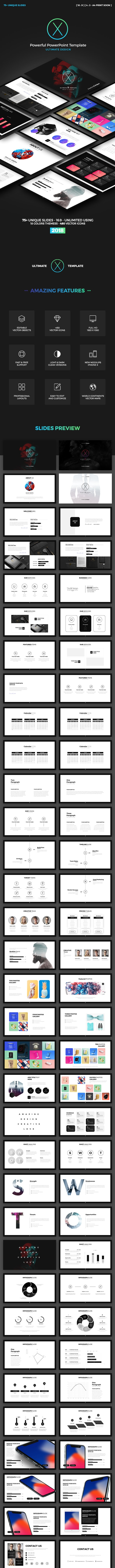 X Business PowerPoint Presentation Template - Business PowerPoint Templates