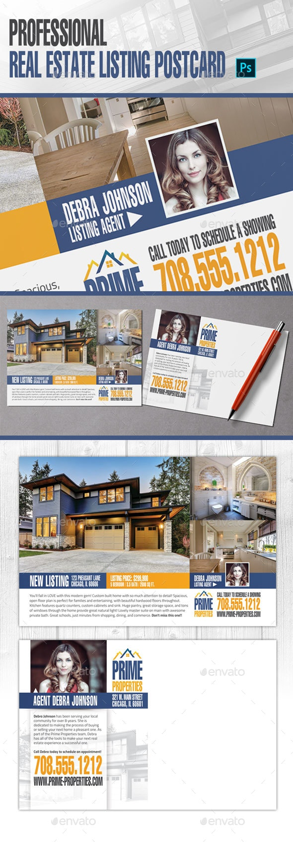 Real Estate Listing Postcard - Corporate Flyers