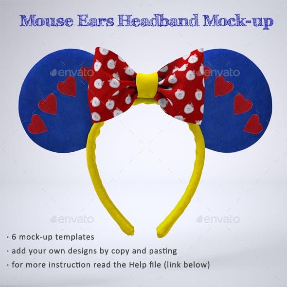 Mouse Ears Headband Mock-Up