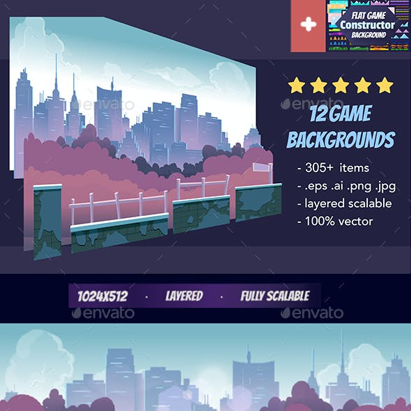 11 Game Backgrounds Pack III