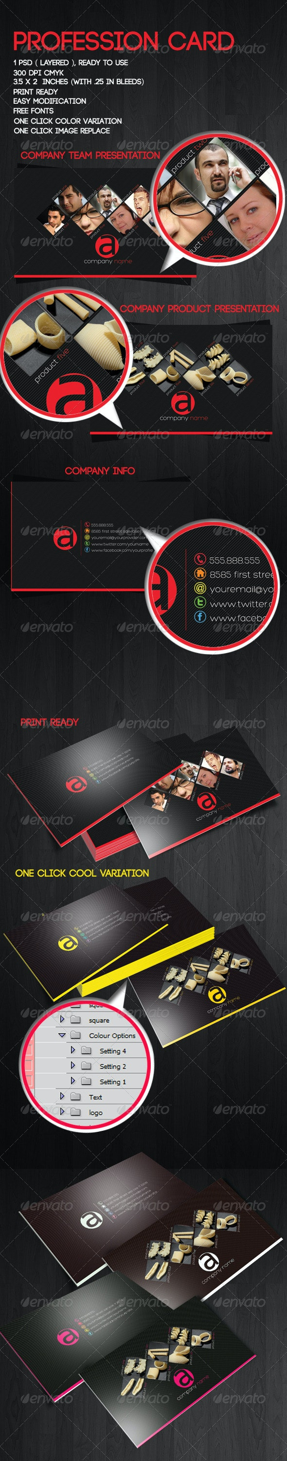 Profession Card Template - Corporate Business Cards