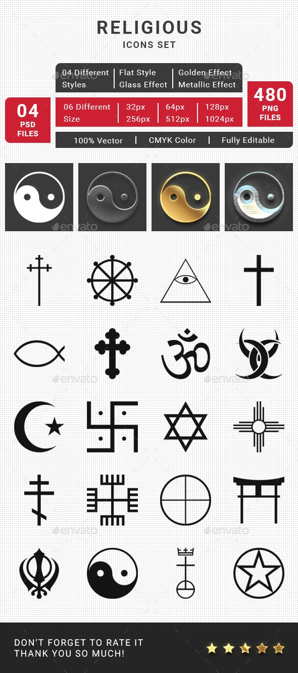 Religious Icons Set - Miscellaneous Icons