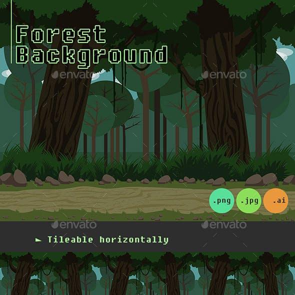 Dark Forest Background