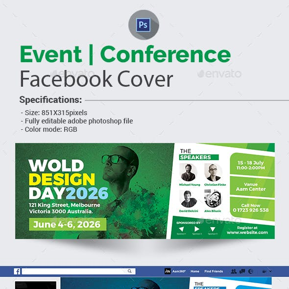 Event / Conference Facebook Cover Template