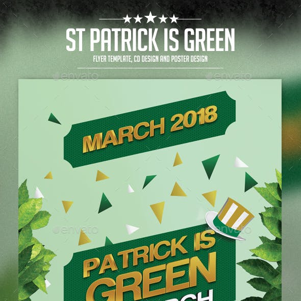 St Patrick is Green Flyer Template
