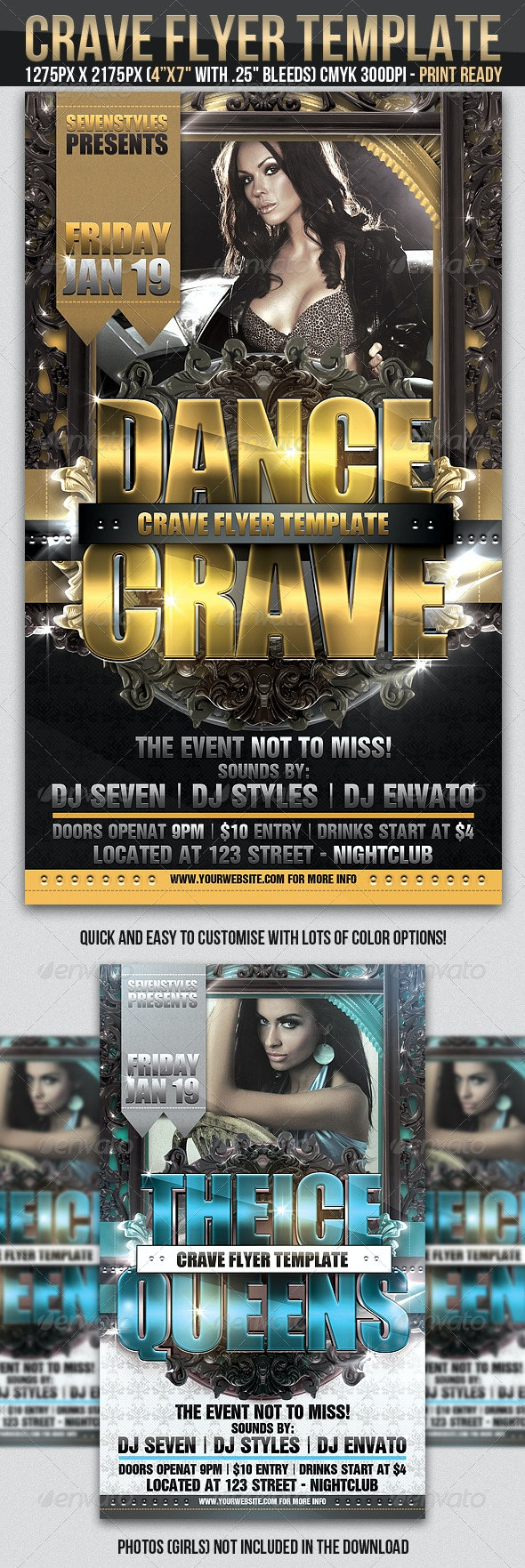 Crave Flyer Template - Clubs & Parties Events