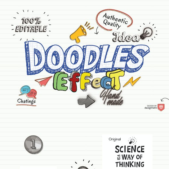 Doodles Text Effect by designhatti