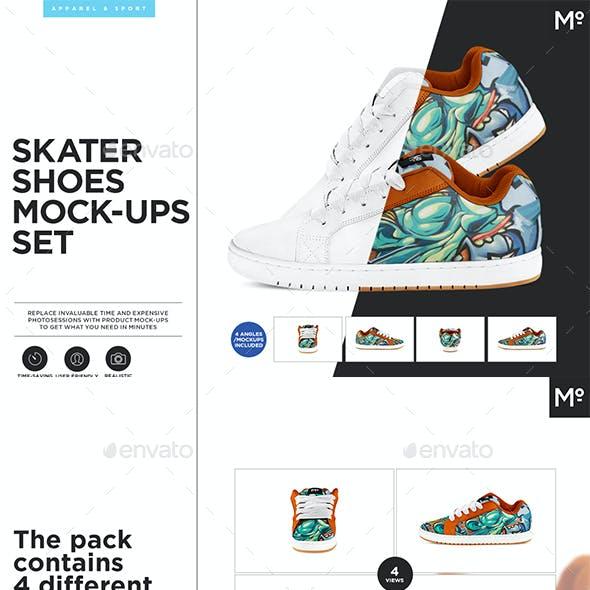 Skater Shoes Mock-up s Set