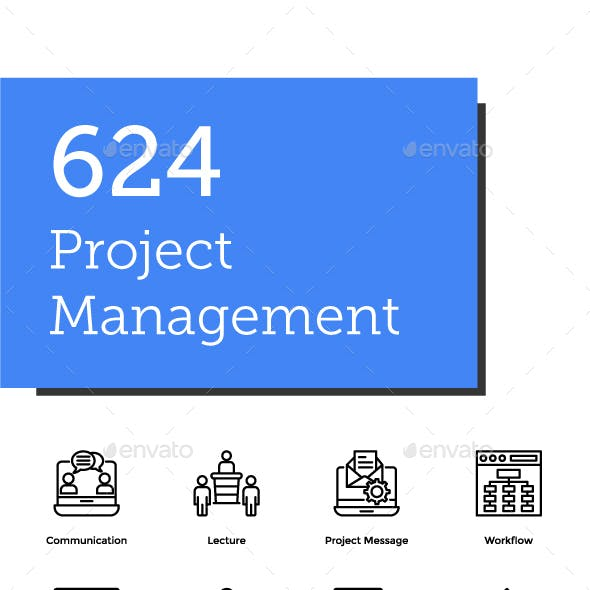 624 Project Management Icons