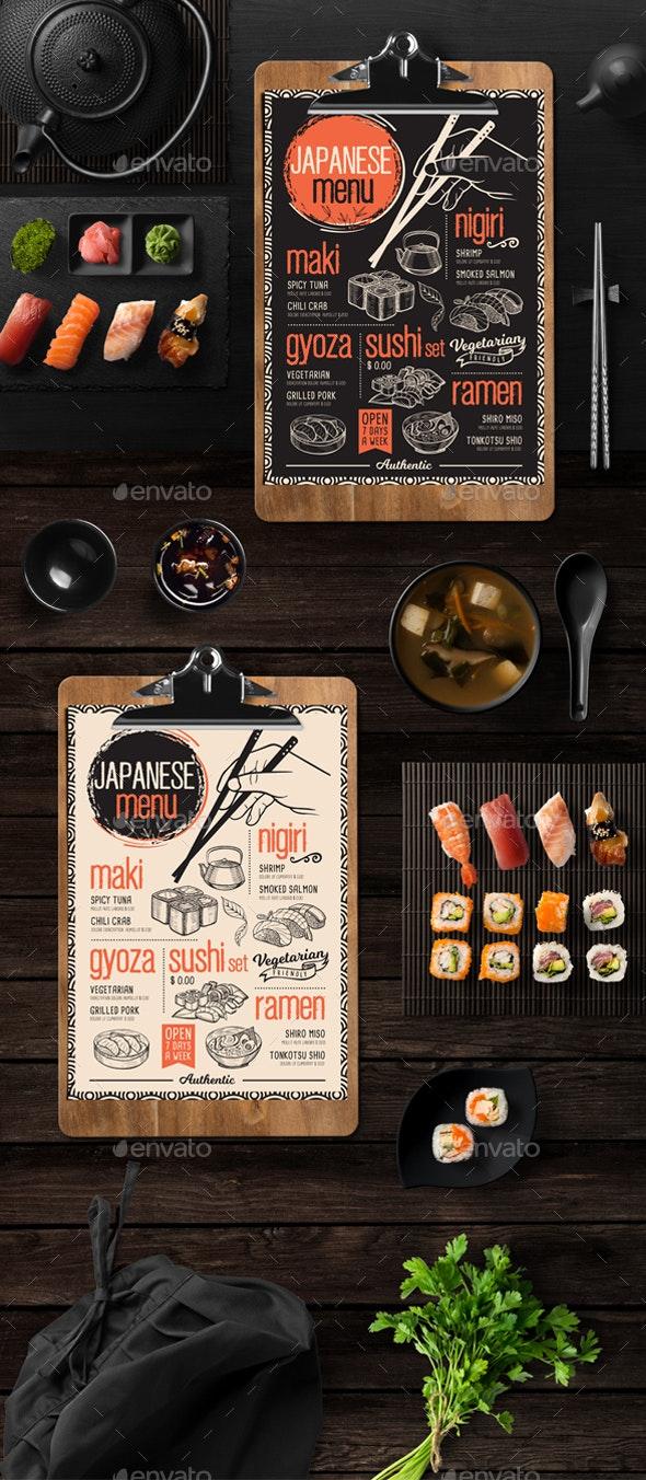 Asian Food Menu - Food Menus Print Templates