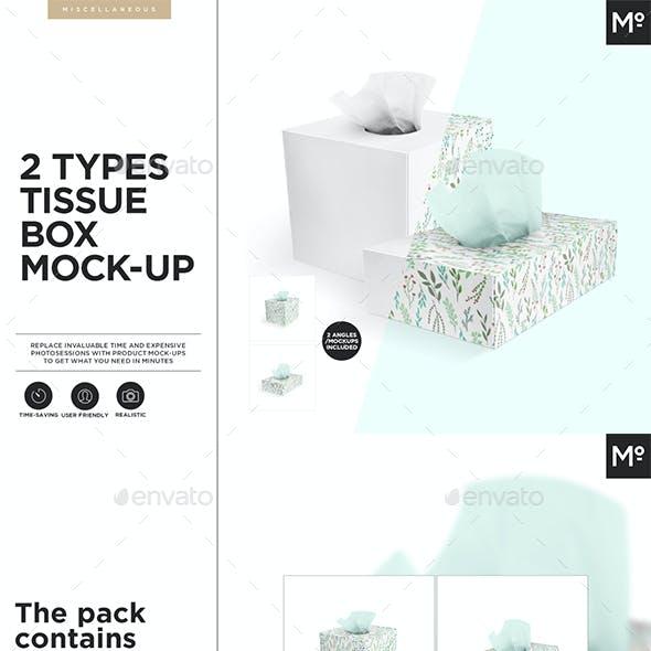 2 Types Tissue Box Mock-up
