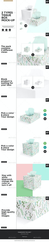 2 Types Tissue Box Mock-up - Miscellaneous Print