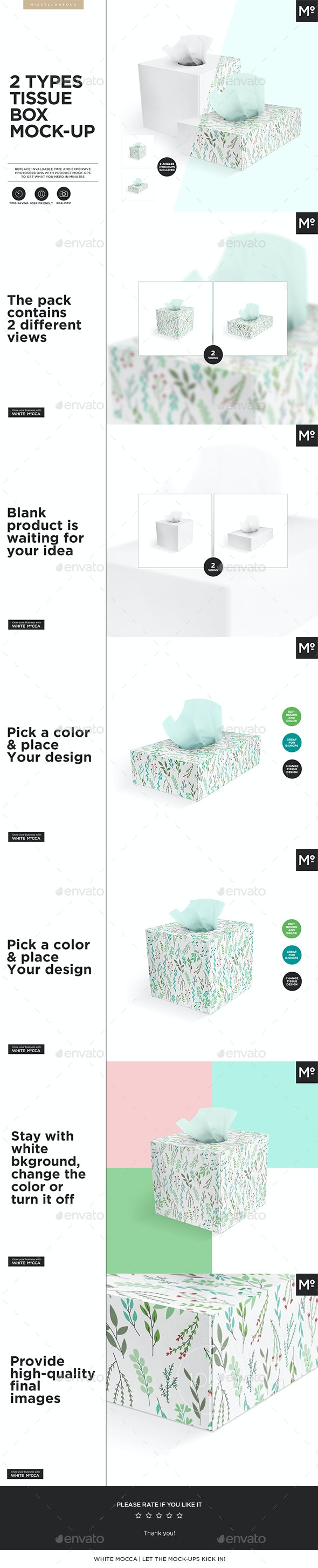 2 Types Tissue Box Mock-up - Miscellaneous Print