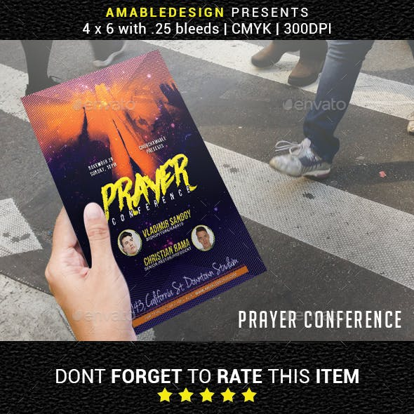 Prayer Conference Church Flyer