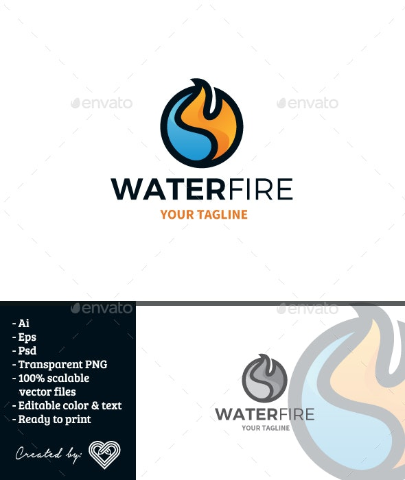 Water Fire - Nature Logo Templates