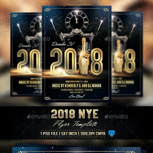 2018 NYE Flyer Template