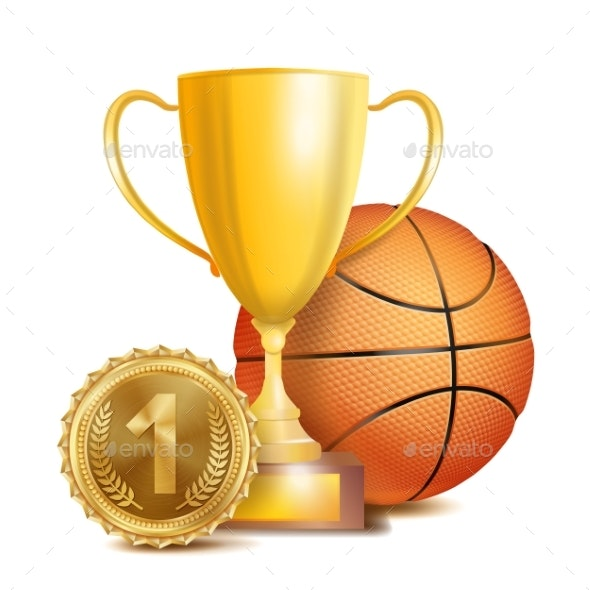 Basketball Achievement Award Vector - Sports/Activity Conceptual