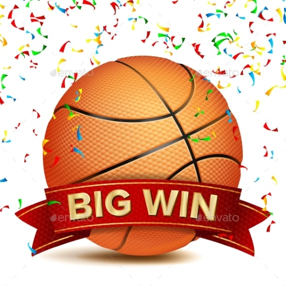 Basketball Big Win Vector - Sports/Activity Conceptual