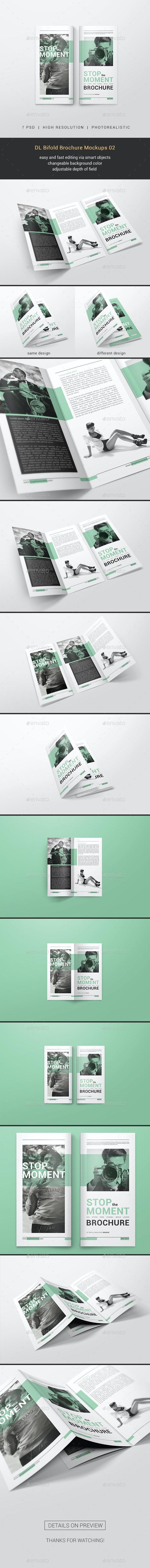 DL Bifold Brochure Mockups 02 - Brochures Print