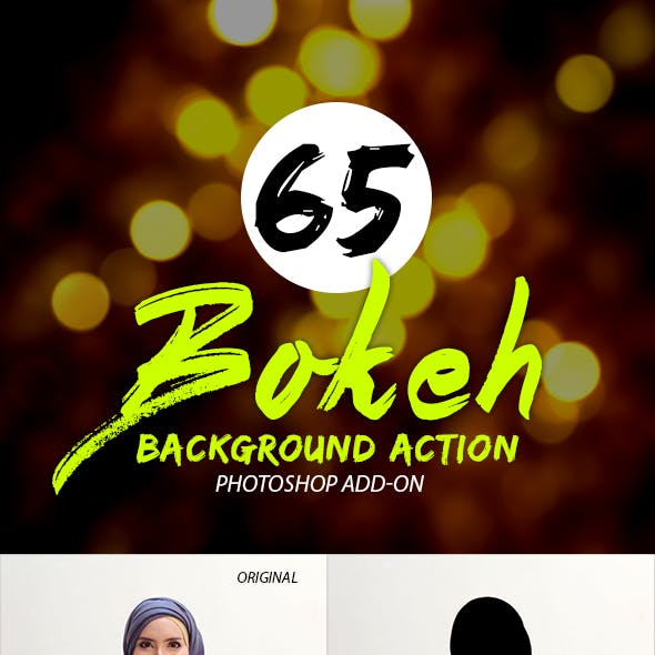 65 Bokeh Background Photoshop Actions