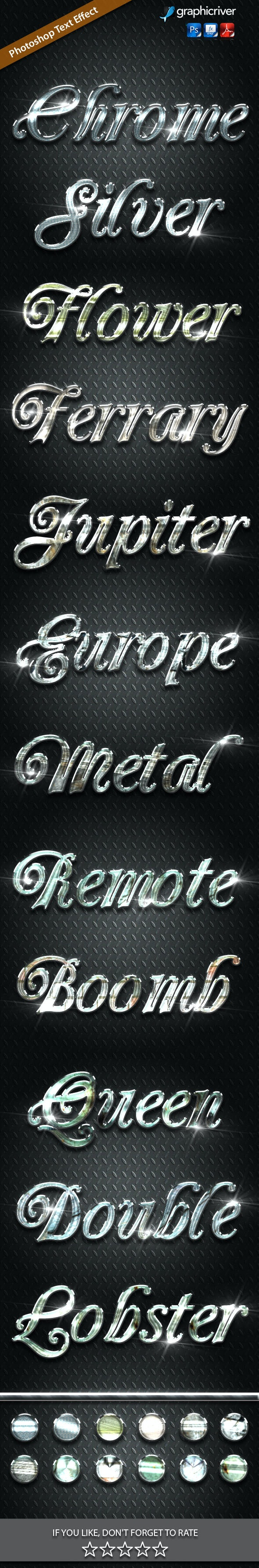 12 Silver Metal Vol 6 - Text Effects Styles