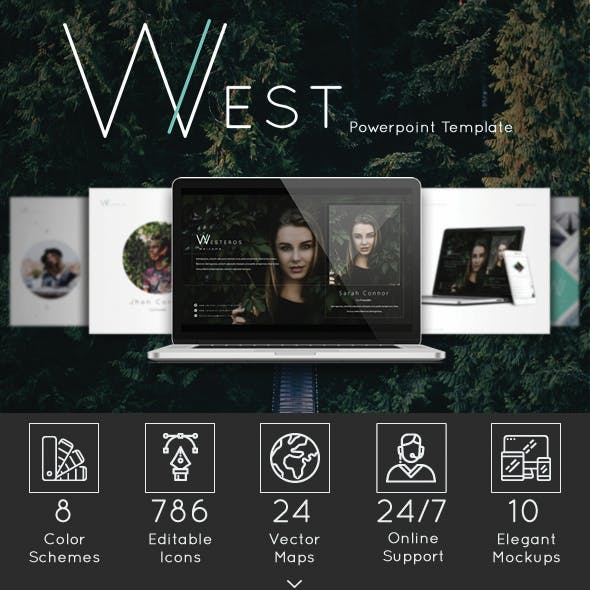 West Powerpoint Template