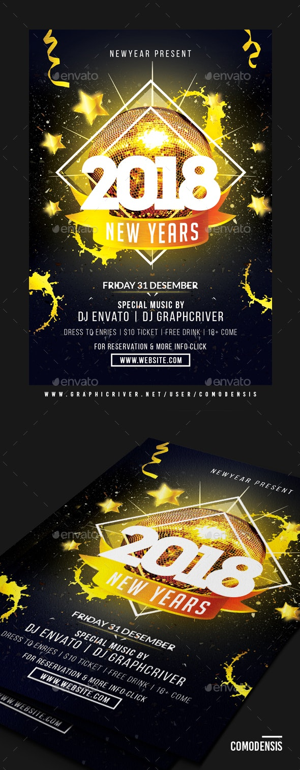 2018 NYE Party Flyer - Clubs & Parties Events