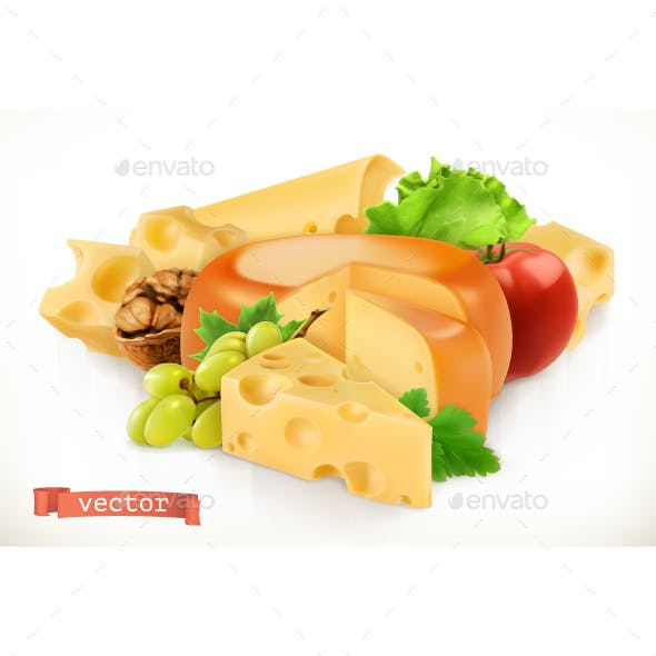 Cheese, Fruits And Vegetables