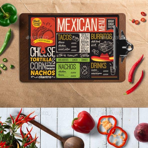 Mexican Food Menu