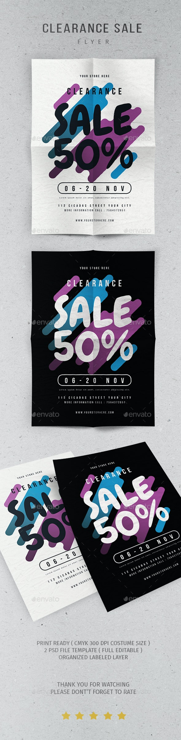 Clearance Sale Flyer - Flyers Print Templates