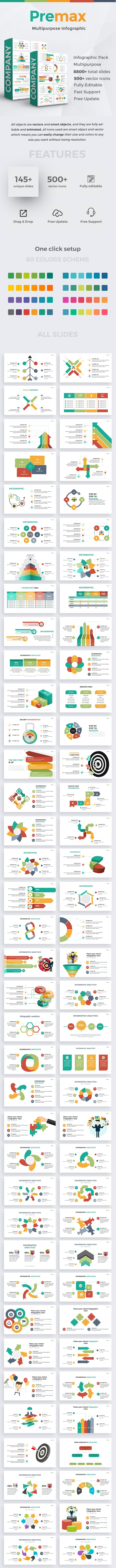 Premax Infographic Pack Keynote Template - Business Keynote Templates