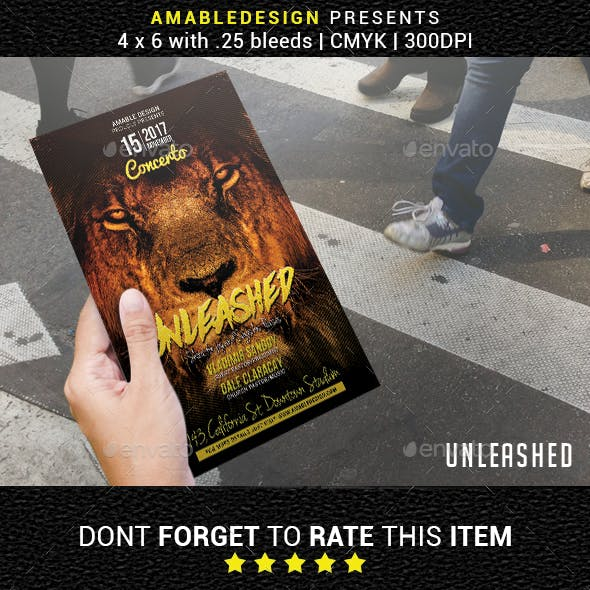 Unleashed Church Flyer
