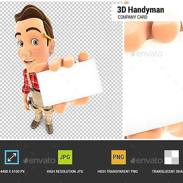 3D Handyman Holding Company Card