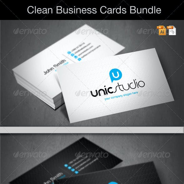 Clean Business Cards Bundle