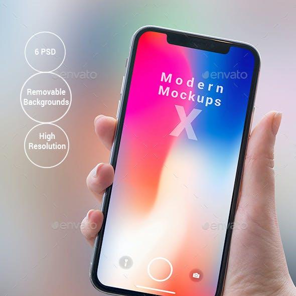 X Modern Mock-ups - Apps Ui Showcase