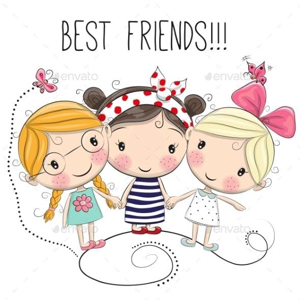Three Cartoon Girls