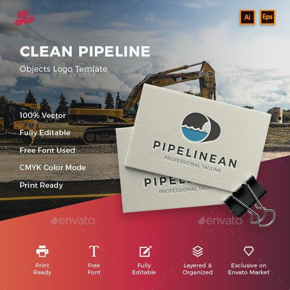 Clean Pipeline Logo Template