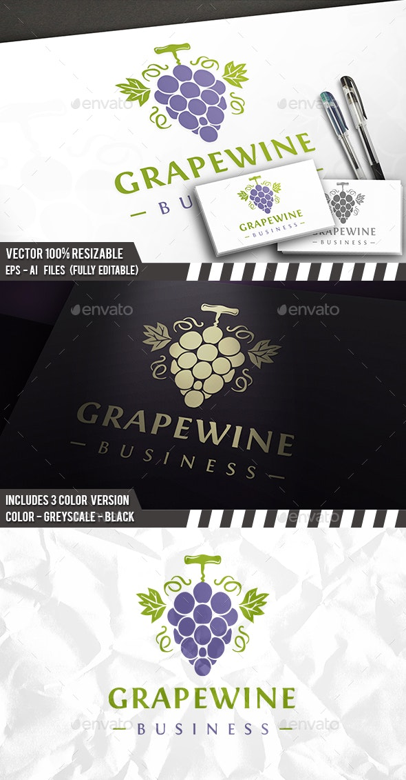 Wine Grapes Logo