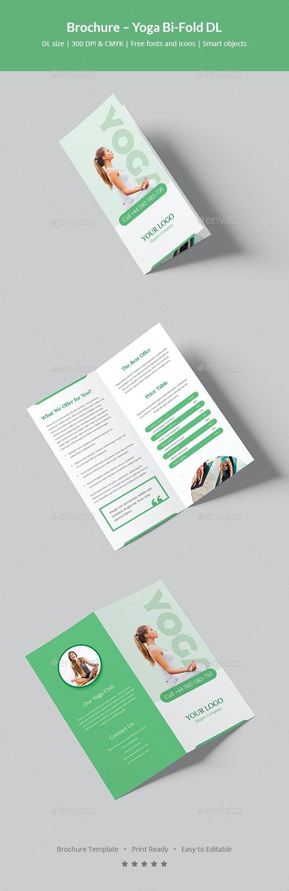 Brochure – Yoga Bi-Fold DL - Informational Brochures