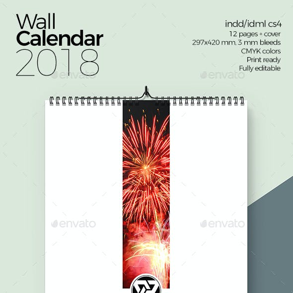 Wall Calendar Monthly Planner 2018 v2