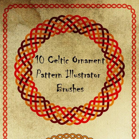 Celtic Knot Ornament Brushes -  Weaving Motive Adobe Illustrator Brushes