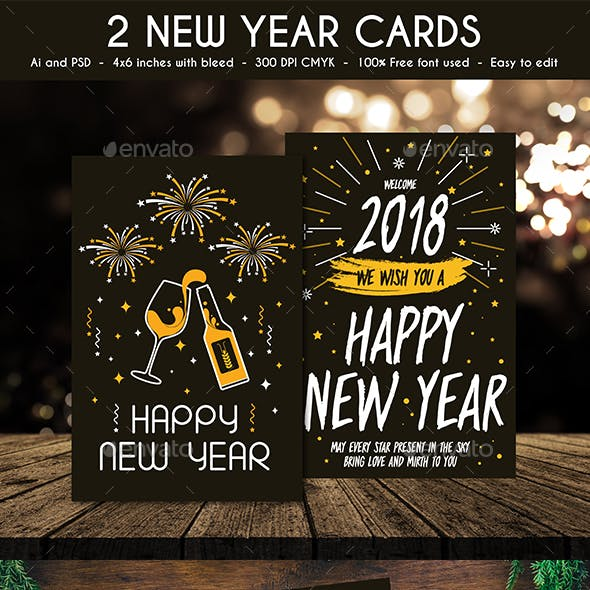 new year card designs templates from graphicriver new year card designs templates from